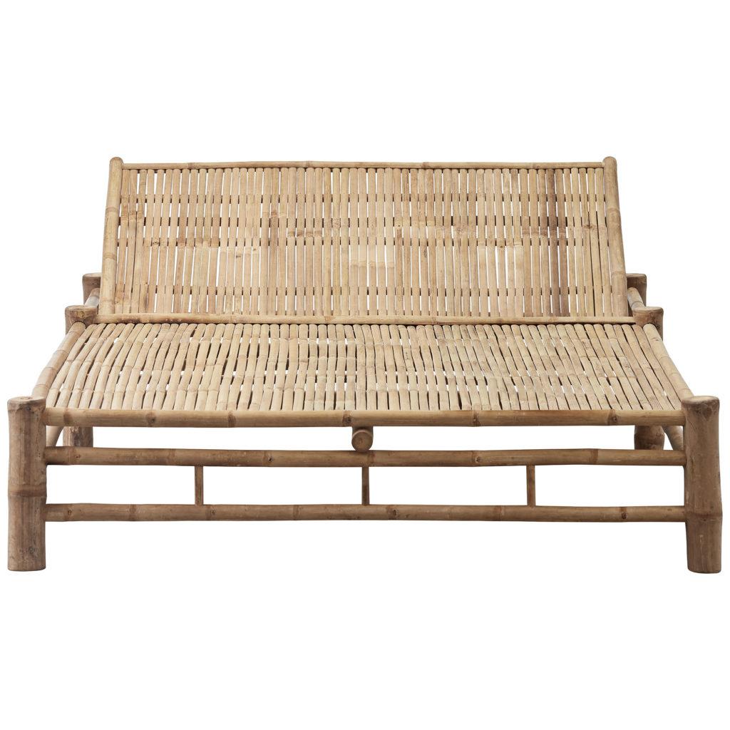bambusmøbler, bambus solseng, dobbelt solseng